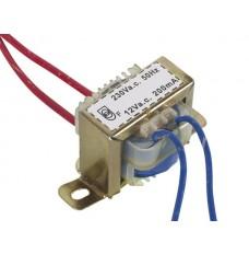 OPEN-CHASSIS TRANSFORMATOR 2.4VA 1 x 12V 200mA