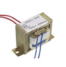 OPEN-CHASSIS TRANSFORMATOR 24VA 1 x 12V 2000mA