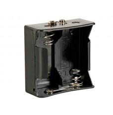 BATTERIJHOUDER VOOR 2 x D-CELL (VOOR BATTERIJCLIPS)