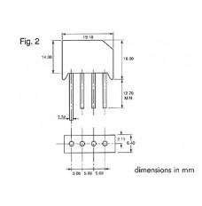 GELIJKRICHTER 100V-4A (RS402L)