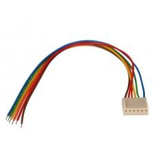 PRINTCONNECTOR - VROUWELIJK - 6 CONTACTEN / 20cm