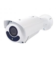 HD CCTV-CAMERA - HD-TVI - GEBRUIK BUITENSHUIS - CILINDRISCH - IR - VARIFOCALE LENS - GEMOTORISEERD - 1080P - WIT