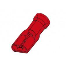 GEISOLEERDE VROUWELIJKE CONNECTOR 6.4mm ROOD