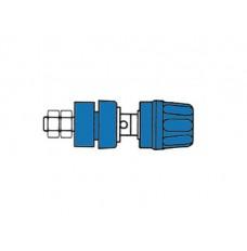 GEISOLEERDE 4mm INBOUWBUS MET KOP EN RING / BLAUW (PKI10A)