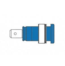 GEISOLEERDE INBOUWBUS 4mm, AANRAAKVEILIG / BLAUW (SEB 2620-F6,3)