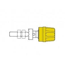 4mm AANSLUITKLEM MET GEISOLEERDE KOP / GEEL (PK10A)