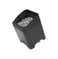 LED-VLOERSPOT MET ACCU - 6 x 12 W RGBWA-UV - ZWART