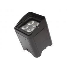 LED-VLOERSPOT MET ACCU - 4 x 12 W RGBWA-UV - ZWART