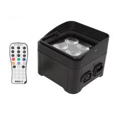 LED-VLOER / TRUSS-SPOT - 4 x 4 W RGB-UV - ZWART
