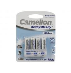 NiMH AAA 1.2V-800mAh (4/kaart) 'ALWAYSREADY™'