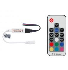 MINI RGB LED-CONTROLLER - MET RF-AFSTANDSBEDIENING