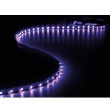 KIT MET FLEXIBELE LED-STRIP EN VOEDING - ULTRAVIOLET - 300 LEDS - 5 m - 12Vdc - ZONDER COATING