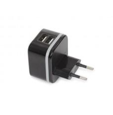 COMPACTE LADER MET 2 USB-AANSLUITINGEN 5 V - 3.4 A max. ( 2.4 + 1 A ) - 17 W max.