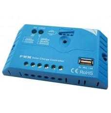 PWM-LAADREGELAAR MET USB-AANSLUITING - 10 A - 12/24 VDC