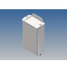 ALUMINIUM BEHUIZING - WIT - 100 x 59.9 x 30.9 mm - met flens