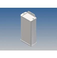 ALUMINIUM BEHUIZING - WIT - 125 x 59.9 x 30.9 mm - met flens