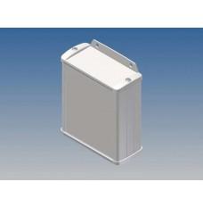 ALUMINIUM BEHUIZING - WIT - 100 x 85.8 x 36.9 mm - met flens