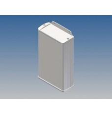 ALUMINIUM BEHUIZING - WIT - 145 x 85.8 x 36.9 mm - met flens
