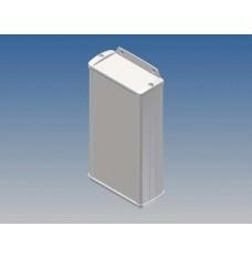 ALUMINIUM BEHUIZING - WIT - 160 x 85.8 x 36.9 mm - met flens
