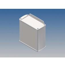 ALUMINIUM BEHUIZING - WIT - 110 x 105.9 x 45.8 mm - met flens