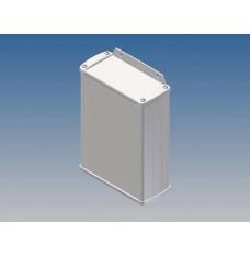 ALUMINIUM BEHUIZING - WIT - 145 x 105.9 x 45.8 mm - met flens