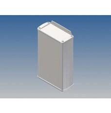 ALUMINIUM BEHUIZING - WIT - 175 x 105.9 x 45.8 mm - met flens