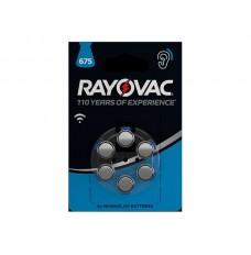 RAYOVAC ZINC AIR KNOOPCEL 1.45 V - 630 mAh 4600.745.416 (6 st./bl)
