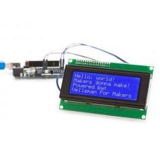 I²C 20x4 LCD-MODULE VOOR ARDUINO® - BLAUWE ACHTERGRONDVERLICHTING