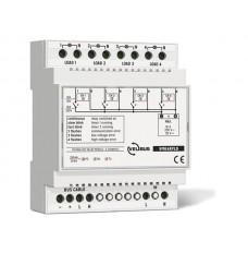 4-kanaals relaismodule met spanningsuitgangen voor DIN rail