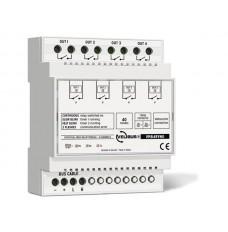 4-kanaals relaismodule met potentiaalvrije contacten voor DIN rail
