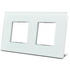 witte dubbele glazen afdekplaat voor BTicino® LivingLight