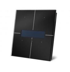 zwarte glazen bedieningsmodule met oledscherm en temperatuurcontroller