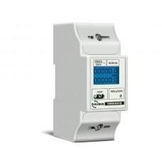 1-fasige kWh-meter 5(80) A voor DIN rail, aansluitbaar op VMB7IN
