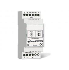 configuratiemodule met USB- en RS-232-aansluiting voor DIN rail