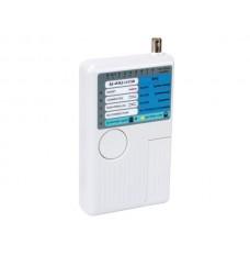 USB-/LAN-TESTER VOOR USB-A, MINI-USB-B, BNC, RJ45, RJ12, RJ11, RJ10