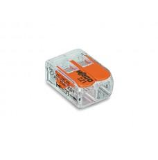 COMPACTE VERBINDINGSKLEM 2 x 0.2 - 4 mm² VOOR ALLE KABELSOORTEN