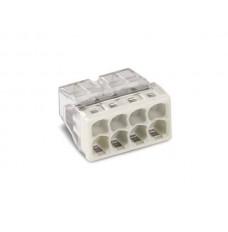COMPACT-LASKLEM - VOOR MASSIEVE GELEIDERS - MAX. 2.5 mm² - 8-DRAADS - BEHUIZINGSKLEUR TRANSPARANT - KLEUR AFDEKKING LICHTGRIJS